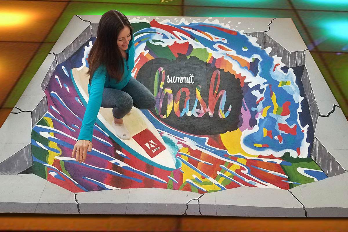 Professional 3d Street Artist Street Painting